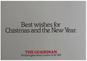 Guardian Christmas card with typo