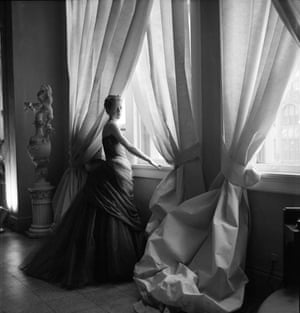 Nancy James, his wife, in the Swan Gown, 1955.