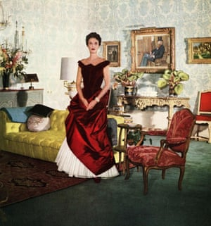 American socialite Babe Paley in Charles James Gown, 1950.