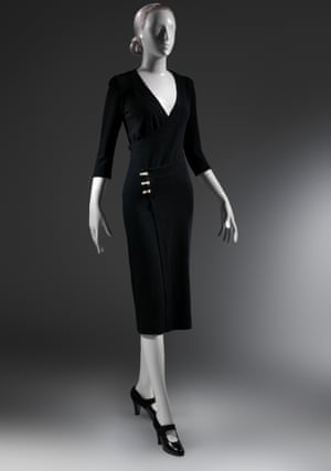 The Taxi Dress from 1932. So called because it was so easy to wear it could be slipped on in the back of a taxi.
