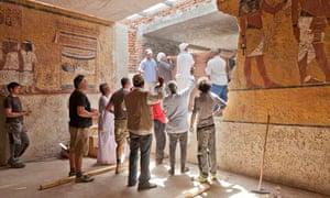 The replica of Tutankhamun's tomb