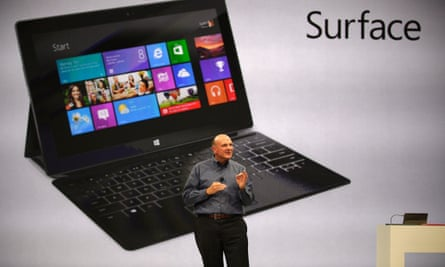 "Microsoft CEO Steve Ballmer unveils ""Surface"""