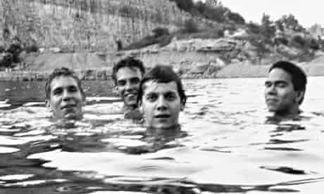 Spiderland album cover shot (l to r): Todd Brashear, Brian McMahan, Britt Walford and David Pajo.