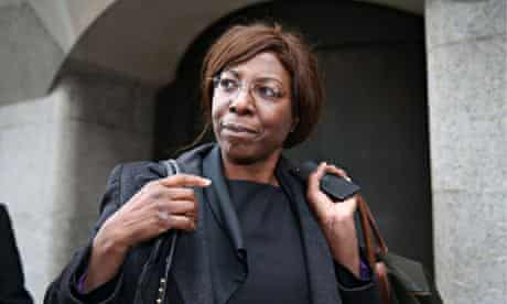 Constance Briscoe leaves the Old Bailey after being found guilty of lying to police