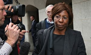 Constance Briscoe leaving the Old Bailey yesterday