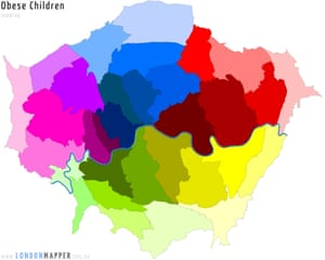obese children cartogram