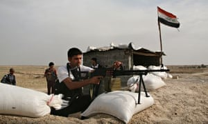 Local militiamen fighting insurgents alo