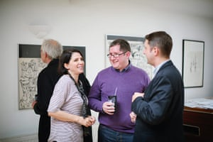 David Vaughan: Sadie Frost at the opening of her father's exhibition