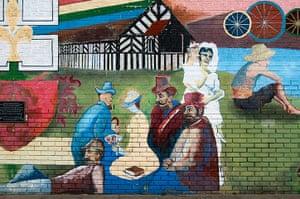 David Vaughan: A wall Mural in Victoria Park, Denton, Tameside