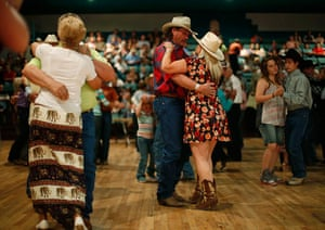 From the agencies: People dance to a band during the annual fiesta in Truth or Consequences