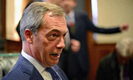 UKIP Leader Nigel Farage  Election Campaign Rally In Edinburgh