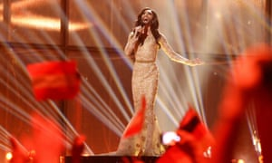 This picture editor's vote goes to Conchita Wurst representing Austria whose phoenix was certainly rising.