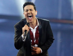 Denmark's Basim may disappoint his country by actually winning Eurovision 2014 with his Cliche Love Song.
