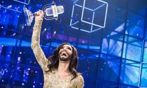 Austria's Conchita Wurst wins the 59th annual Eurovision song contest.