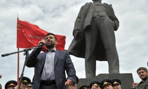 Denis Pushilin, chairman of the so-called interim government of People's Republic of Donetsk.