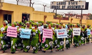 Protest over abducted Nigerian school girls in Lagos