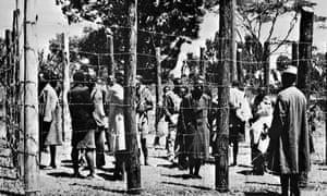 Suspected Mau Mau fighters in  Kenya in 1952
