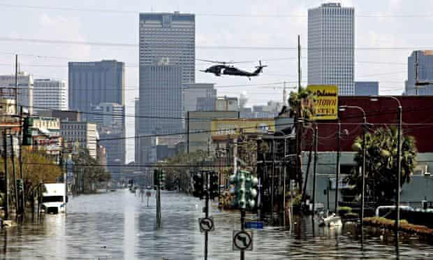 The aftermath of Hurricane Katrina in New Orleans in 2005, the most expensive disaster in recent history according to the UN