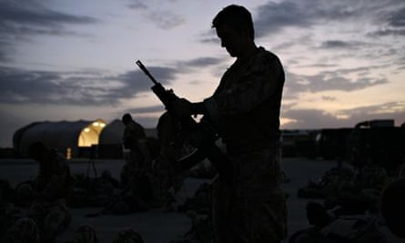 British soldier from 3rd Battalion, The Parachute Regiment in Kandahar, Afghanistan