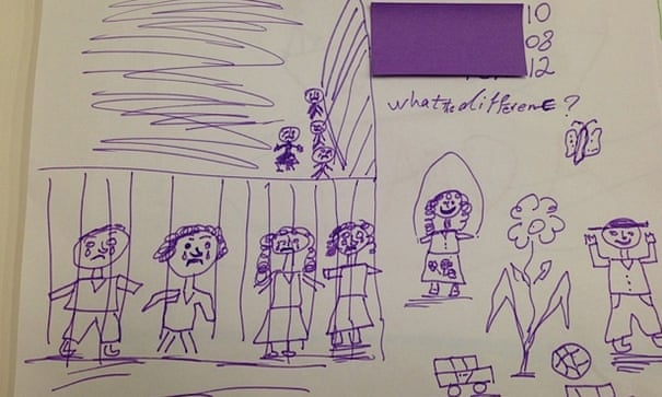 Sadness and fear: what the drawings by children in detention