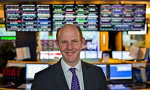 Chief executive Rupert Pearce at the Inmarsat operations centre in London
