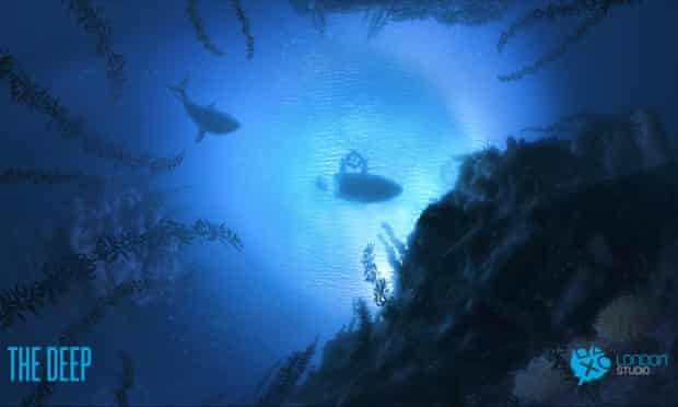 A underwater scene from Project Morpheus's The Deep