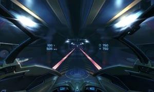 The cockpit from Eve Valkyrie