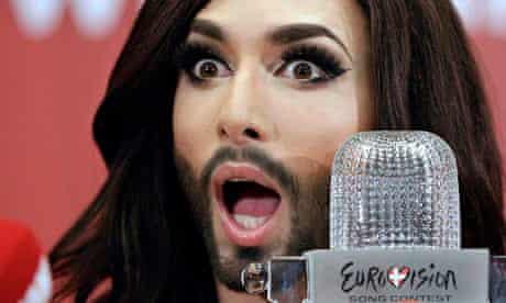 Eurovision winner 2014 Conchita Wurst of Austria