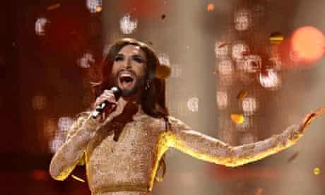 Conchita Wurst representing Austria perf