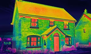 House heating thermal image