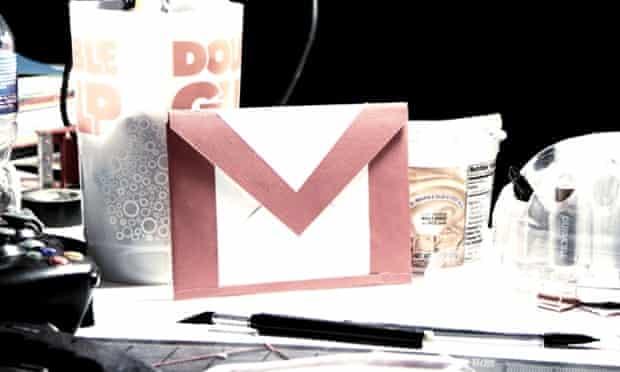 Gmail envelope on a desk
