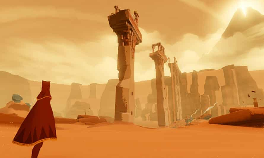 Journey, a game of quiet beauty, mentioned by Media Molecule co-founder Alex Evans during the Today programme debate