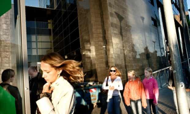 People in the Estonian capital, Tallinn