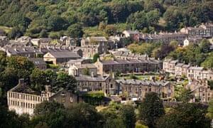 Haworth village hillside houses, Yorkshire