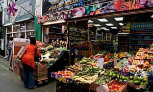 Brixton Market shops and stalls