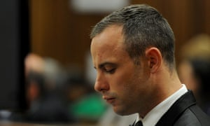Oscar Pistorius cries during evidence from a forensic psychiatrist on Monday.
