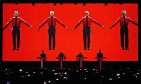 Kraftwerk performs live at the Sonar festival in Barcelona, Spain