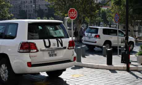 UN chemical weapons investigation team  in Syria