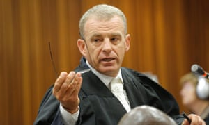 State prosecutor Gerrie Nel during the murder trial of Oscar Pistorius.