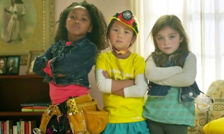 A still from GoldieBlox's video featuring the Beastie Boys song Girls.