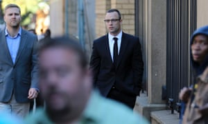 Oscar Pistorius arrives at the high court on Tuesday.