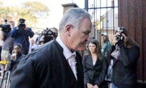 Defence counsel Barry Roux arrives at the Pretoria high court.