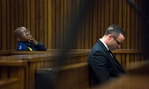 Oscar Pistorius listens to evidence in court on Tuesday.