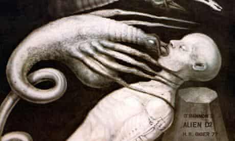 H. R. Giger Alien Artwork