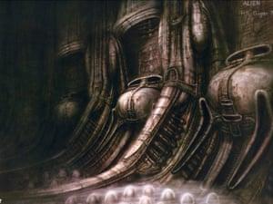 HR Giger artwork for Alien.