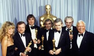 HR Giger with fellow best visual effects oscar winners Carlo Rambaldi, Brian Johnson, Nick Allder, Denys Ayling.
