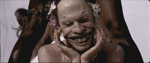 A still from the video for the 2005 song Windowlicker by Aphex Twin. Based on original conceptual art by HR Giger