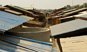 Houses for relocated families in Burma