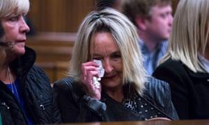 June Steenkamp, mother of Reeva Steenkamp, listens to evidence about Oscar Pistorius's mental health on Tuesday.