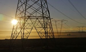 South Africa power line
